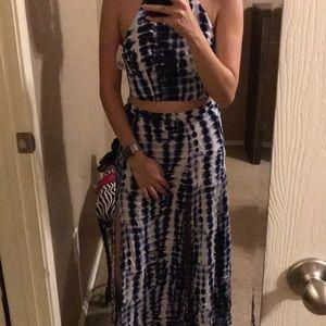 Crop top and maxi skirt set